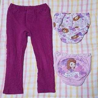 ディズニー(Disney)の女の子 ズボン パンツ 3点セット 100(パンツ/スパッツ)