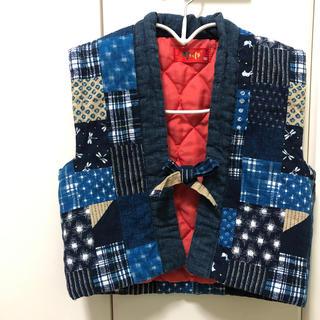 日本製 ちゃんちゃんこ サイズ90(身長85-95/胸囲45-51)(和服/着物)