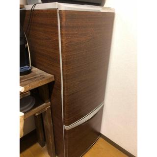 パナソニック(Panasonic)の冷蔵庫 ナショナル(パナソニック) 木目 NR- B172J-S型 送料込み(冷蔵庫)