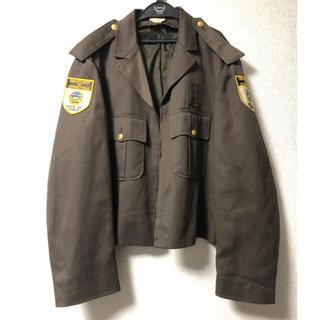 ポリス(POLICE)の軍服 ポリスジャケット ポリスマンジャケット usa古着(ブルゾン)