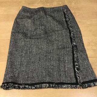 ノーベスパジオ(NOVESPAZIO)のスエード スカート M(ひざ丈スカート)