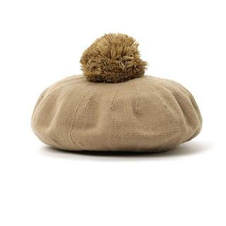 クリフメイヤー(KRIFF MAYER)のKRIFF MAYER ベレー帽 Calm-Col-Beret ぽんぽんベレー(帽子)