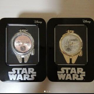 ディズニー(Disney)のスターウォーズ プレミヤムミレニアム・ファルコン型懐中時計 ゴールド&シルバー(SF/ファンタジー/ホラー)