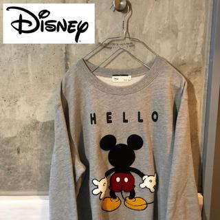 ディズニー(Disney)のディズニー ミッキー トレーナー スウェット グレー(スウェット)