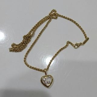 ショパール(Chopard)のショパール ハッピーダイヤモンド ネックレス  極美品(ネックレス)