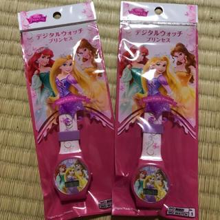 ディズニー(Disney)の①ディズニープリンセスデジタルウォッチ(腕時計)