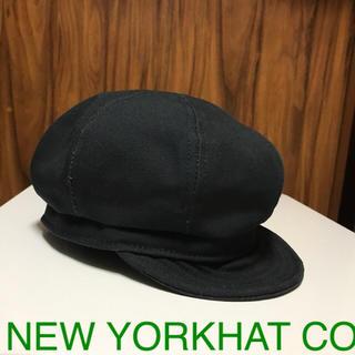 ニューヨークハット(NEW YORK HAT)のニューヨークハット 黒 キャスケット リネン(キャスケット)