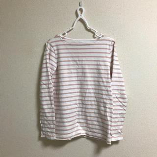 MUJI (無印良品) - M 無印良品 オーガニックコットンボートネック ボーダー 太番手長袖Tシャツ