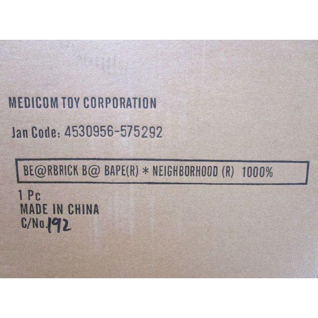 MEDICOM TOY(メディコムトイ)のAPE NEIGHBORHOOD BE@RBRICK 1000% エンタメ/ホビーのフィギュア(その他)の商品写真