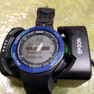 エプソン(EPSON)のEPSON Wristable GPS 腕時計 SF-850PB(腕時計(デジタル))