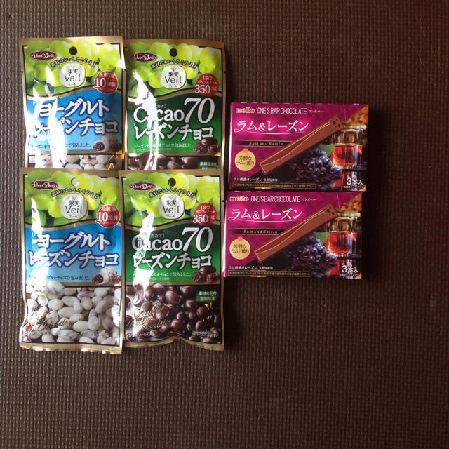 ヨーグルトレーズンチョコ・cacao70レーズンチョコ・ラム&レーズン 食品/飲料/酒の食品(菓子/デザート)の商品写真