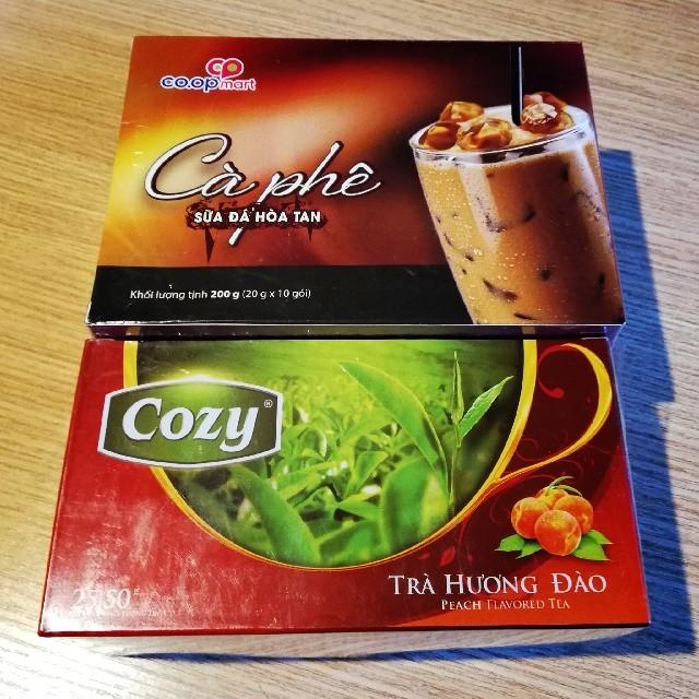 ベトナムコーヒーとベトナムティー(ピーチティー) 食品/飲料/酒の飲料(コーヒー)の商品写真
