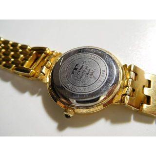 テクノス(TECHNOS)のテクノスの腕時計レディース クォーツ式 天然ダイヤ ゴールド(腕時計(アナログ))
