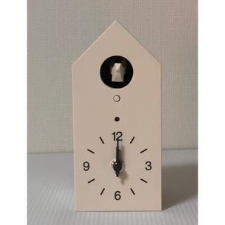 MUJI (無印良品) - 【 新品・未使用 】 MUJI( 無印良品 )鳩時計  掛置時計  ホワイト