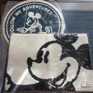 ディズニー(Disney)のディズニー マット 2点セット  ミッキー(その他)