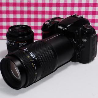 ニコン(Nikon)の❤️遠くの撮影もバッチリ❤️Nikon D80 ダブルレンズキット・安心保証(デジタル一眼)