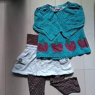 ベルメゾン(ベルメゾン)のベルメゾン 腹巻付スカッツ&エルフィンドール 長袖Tシャツ 80cm(スカート)