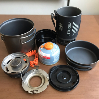 ジェットボイル(JETBOIL)のJETBOIL と チタンクッカー(調理器具)