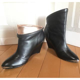 シガーソンモリソン(SIGERSON MORRISON)のSIGERSON MORRISON(シガーソンモリソン)ブーツ 黒 22.5㎝(ブーツ)