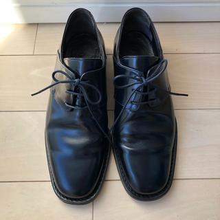 ジルサンダー(Jil Sander)のジルサンダー 靴 ローファー フラット レザー36.5 23 ネイビー(ローファー/革靴)