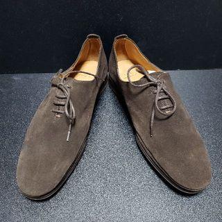 エヌディーシー(n.d.c. nom de code)のエヌディーシー(n.d.c. made by hand)スエード革靴 茶 41(ドレス/ビジネス)