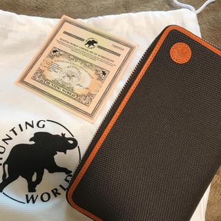 ハンティングワールド(HUNTING WORLD)のハンティングワールドメンズラウンドファスナー長財布676435ADOBEOBOR(長財布)