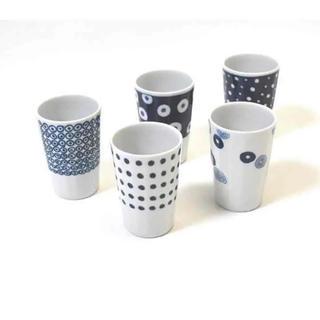 ハクサントウキ(白山陶器)の新品未使用♡波佐見焼【送料込】軽量フリーカップ揃え5コセット(食器)