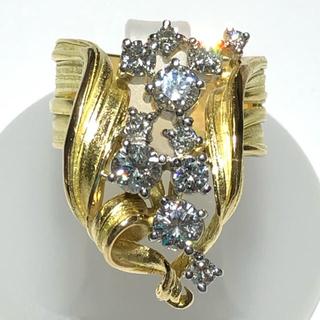石川暢子 astime Pt900 k18yg ダイヤモンド リング 指輪(リング(指輪))