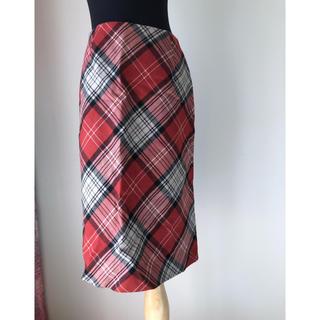 エルプラネット(ELLE PLANETE)の日本製ウール100スカート(ひざ丈スカート)