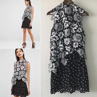 セルフポートレイト(SELF PORTRAIT)の正規品セルフポートレイト☆フラワー刺繍ドレス(ミニドレス)