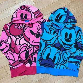ディズニー(Disney)のディズニーランド購入!裏起毛スウェットフルジップパーカー150cmブルー(ジャケット/上着)