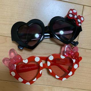 ディズニー(Disney)のディズニーランド購入!ミニーちゃんハートサングラス2点セット(サングラス/メガネ)