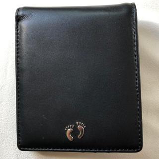 ハンテン(HANG TEN)のHangTenハンテン黒本革カーフ2つ折り財布(折り財布)