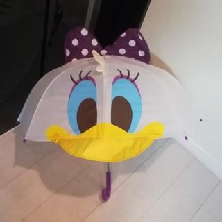 ディズニー(Disney)のデイジー 紫リボン 傘 47cm (傘)