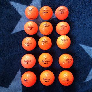 ツアーステージ(TOURSTAGE)のゴルフボール  ロストボール  オレンジボール  15個(その他)