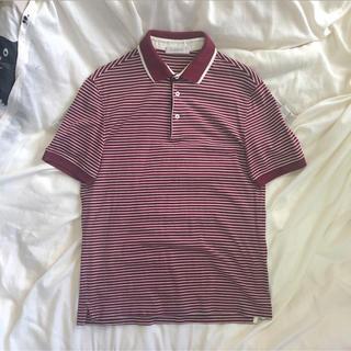 エルメネジルドゼニア(Ermenegildo Zegna)のゼニア ストライプ ボーダー ポロシャツ(ポロシャツ)