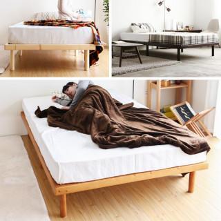 木製 ベッドフレーム 3色展開 シングル(すのこベッド)