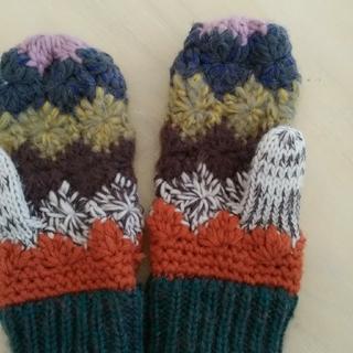 手編み手袋(手袋)
