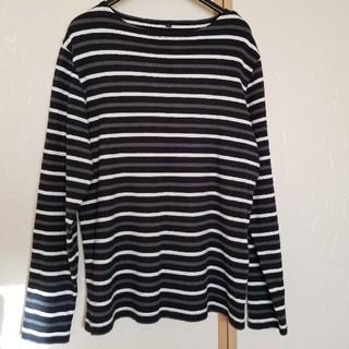 ムジルシリョウヒン(MUJI (無印良品))の無印良品 ボーダーカットソー Lサイズ(Tシャツ/カットソー(七分/長袖))
