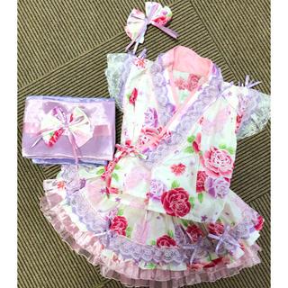 美品♡ myago様 ハンドメイド 浴衣ドレス(甚平/浴衣)