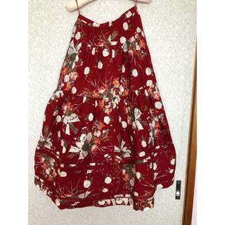 カネコイサオ(KANEKO ISAO)のカネコイサオ 花柄 スカート(ロングスカート)