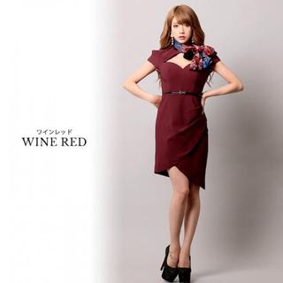 ジュエルズ(JEWELS)のワインレッドドレス(ミディアムドレス)
