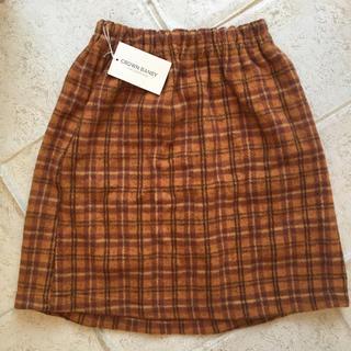 クラウンバンビ(CROWN BANBY)の新品 140 チェックスカート(スカート)