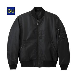 ジーユー(GU)のGU ma-1 ブラック(ダウンジャケット)
