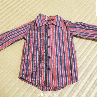 ディラッシュ(DILASH)の長袖 シャツ 90センチ 赤 ストライプ(Tシャツ/カットソー)