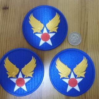 USエアーフォース アイロン刺繍ワッペン パッチ 勲章 USA(襟章)