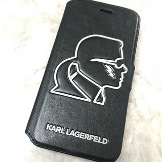 カールラガーフェルド(Karl Lagerfeld)のiPhone7用 ケースカールラガーフェルド 本革 (iPhoneケース)