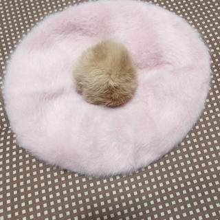 アースミュージックアンドエコロジー(earth music & ecology)のファー ベレー帽(ハンチング/ベレー帽)