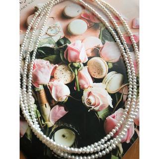 ドゥロワー(Drawer)の新品 定2万 清楚ベビーパール 3㎜ 淡水真珠 120㎝ ロングネックレス(ネックレス)