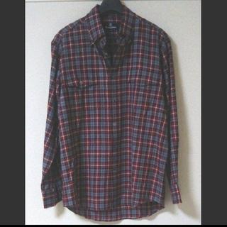アクアスキュータム(AQUA SCUTUM)のアクアスキュータム メンズ ギンガムチェックシャツ Lサイズ(シャツ)